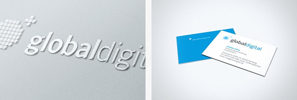 globaldigital - Corporate Design - Logo, Visitenkarte, Briefbogen